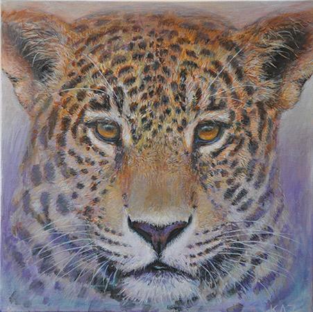 Leopard Lila 2012 50x50