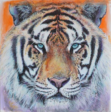 Tiger Orange 2012 50x50