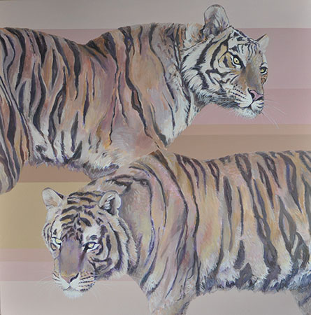 Two Tigers 2009 100x100