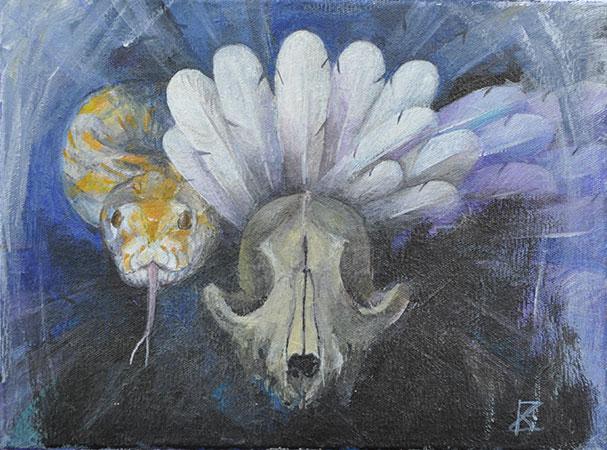 Federnschlange 1997 18x24