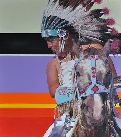 Indianer 2012 100x80